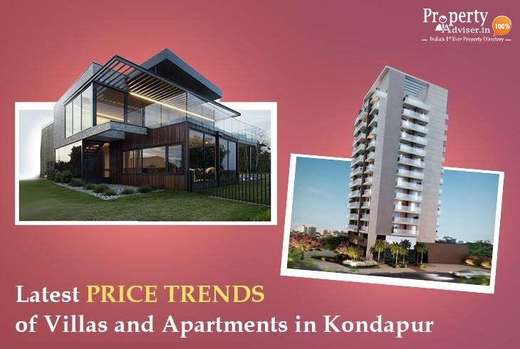 Latest Price Trends of Villas and Apartments in Kondapur