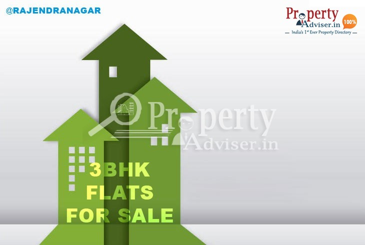 Stylish 3BHK Flats for sale in Rajendra Nagar