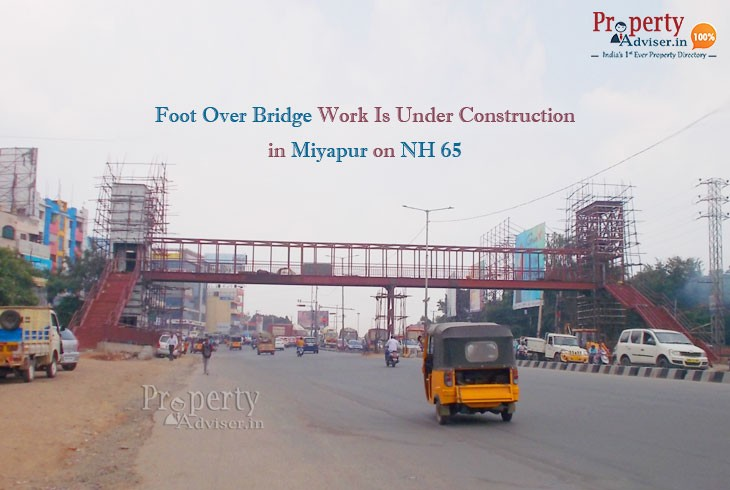 A New Foot Over Bridge in Miyapur