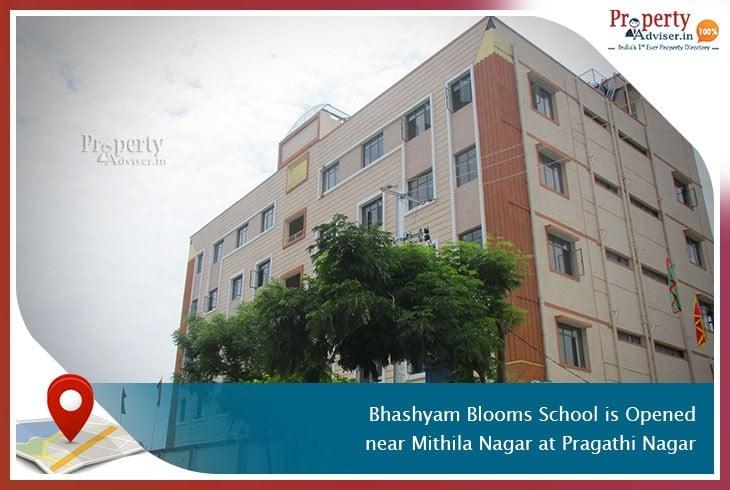 Bhashyam Blooms School Is Opened near Mithila Nagar at Pragathi Nagar