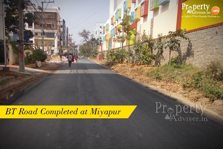 BT Road Completed Near Residential Apartments in Miyapur
