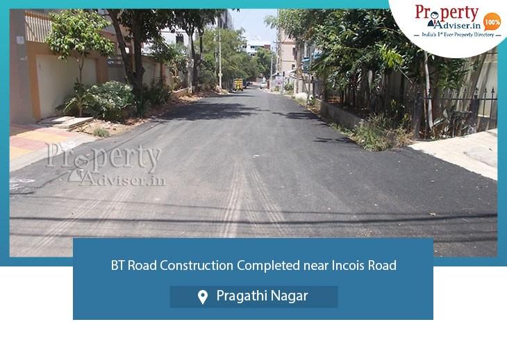 bt-road-construction-completed-near-incois-road-at-pragathi-nagar