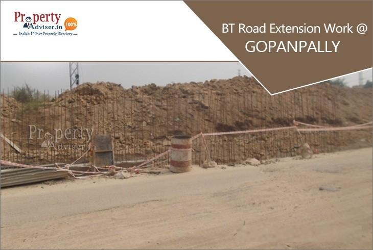 BT Road Extension Work is in Process Near Properties in Gopanpally