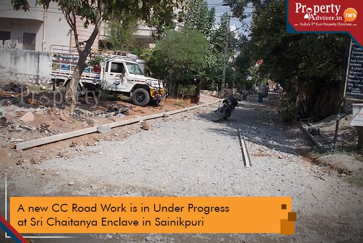 Upcoming CC Road near Houses at Sri Chaitanya Enclave in Sainikpuri