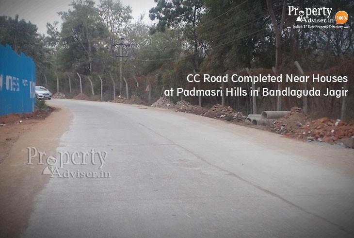 A New CC Road At Padmasri Hills near Bandlaguda Jagir