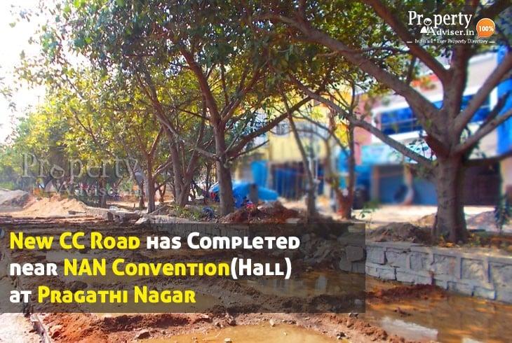 CC Road completed near NAN Convention (Hall) at Pragathi Nagar