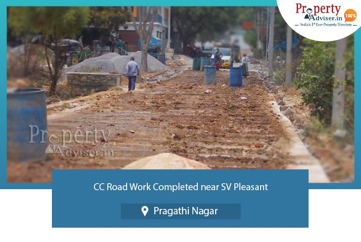 cc-road-completed-near-sv-pleasant-at-pragathi-nagar