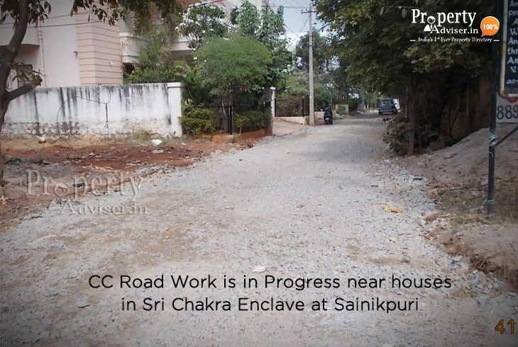 CC Road Work Is In Progress in Sri Chakra Enclave at Sainikpuri