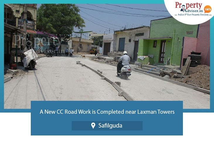 cc-road-work-is-completed-near-laxman-towers-in-safilguda