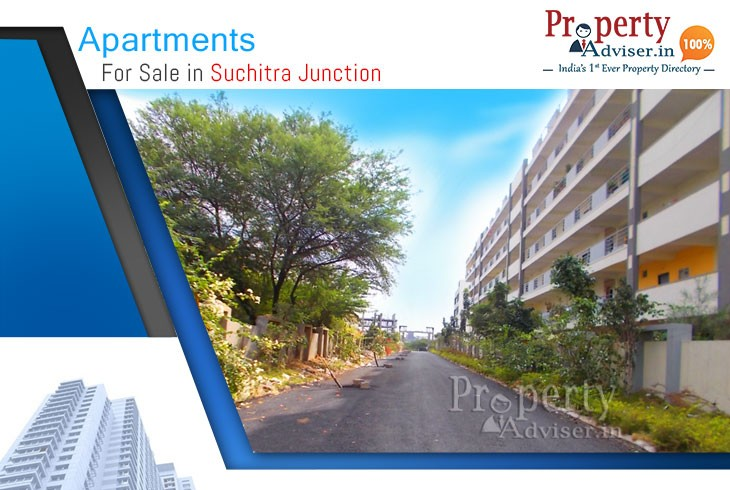 Checkout 519+ Flats for Sale in Suchitra Junction