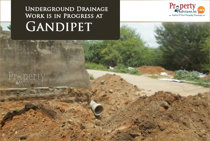 Underground Drainage work Near properties in Gandipet