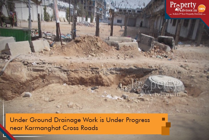 Drainage Work near Apartments in Karmanghat