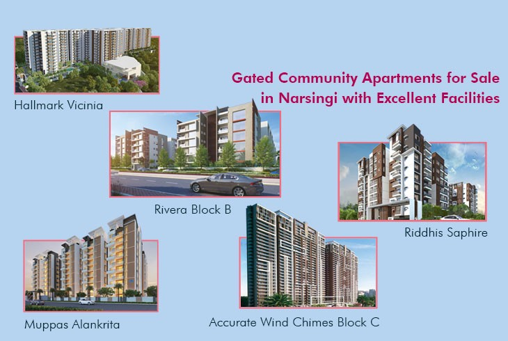 Stylish Gated Community Apartments for Sale in Narsingi