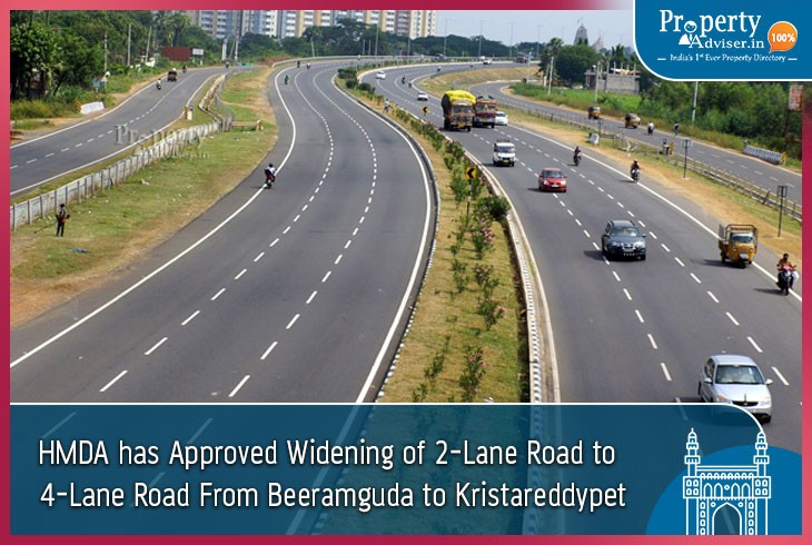 hmda-approved-widening-of-2-to-4-lane-road-at-beeramguda