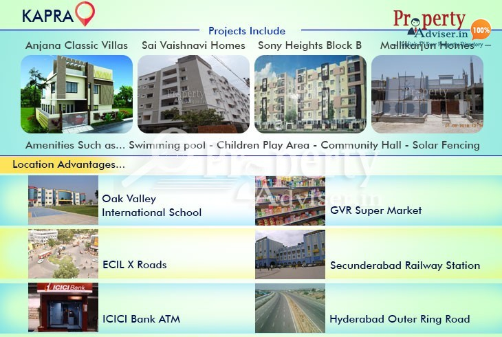 Houses for Sale at Kapra with Modern Facilities
