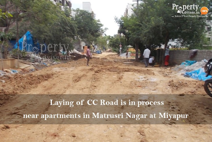 Laying of CC Road in Matrusri Nagar