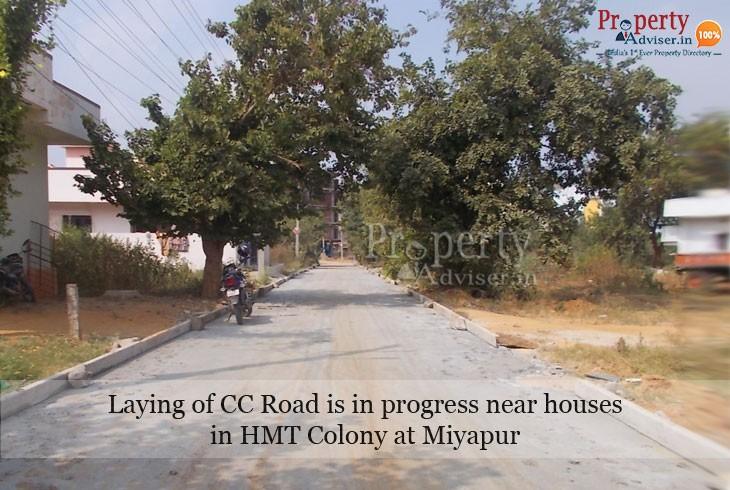 New CC Road in HMT Colony, Miyapur