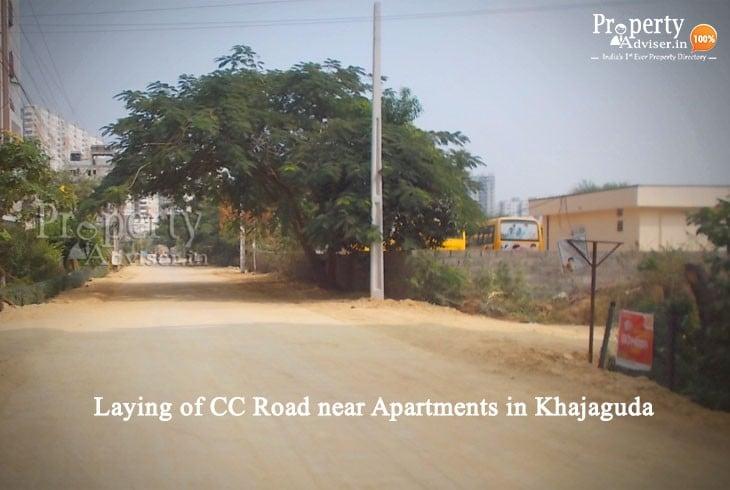 New CC Road in Khajaguda, Hyderabad