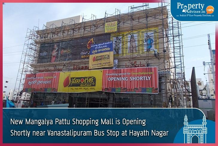 New Mangalya Pattu Shopping Mall near Vanastalipuram Bus stop at Hayath Nagar