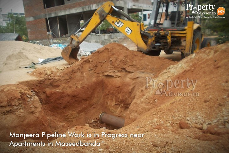 Manjeera Water Pipeline Work in Maseedbanda