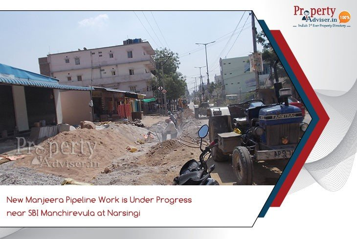manjeera-pipeline-work-under-progress-near-sbi-at-narsingi