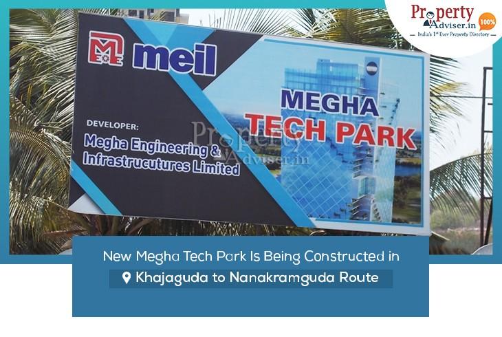 megha-tech-park-being-constructed-khajaguda-nanakramguda-route