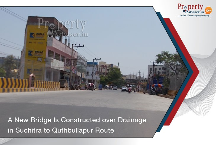 new-bridge-constructed-over-drainage-in-suchitra-to-quthbullapur-route