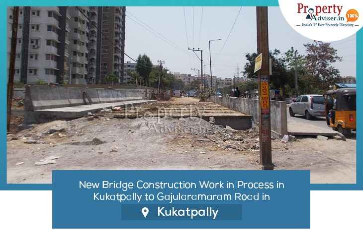 New Bridge Construction Work in Process from Kukatpally to