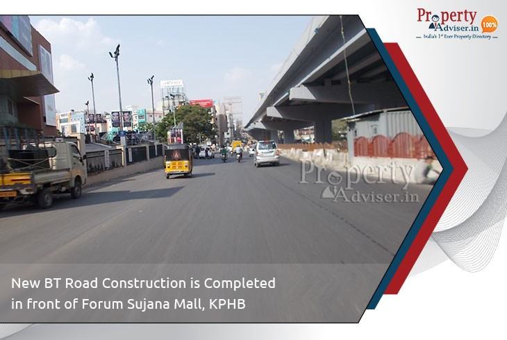 new-bt-road-construction-completed-near-forum-sujana-mall-kphb