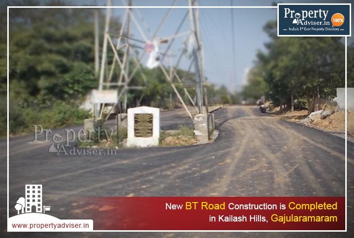 New BT road near houses in Kailash hills, Gajularamaram