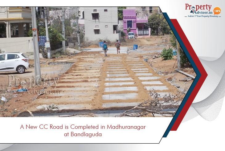 new-cc-road-completed-in-madhuranagar-at-bandlaguda