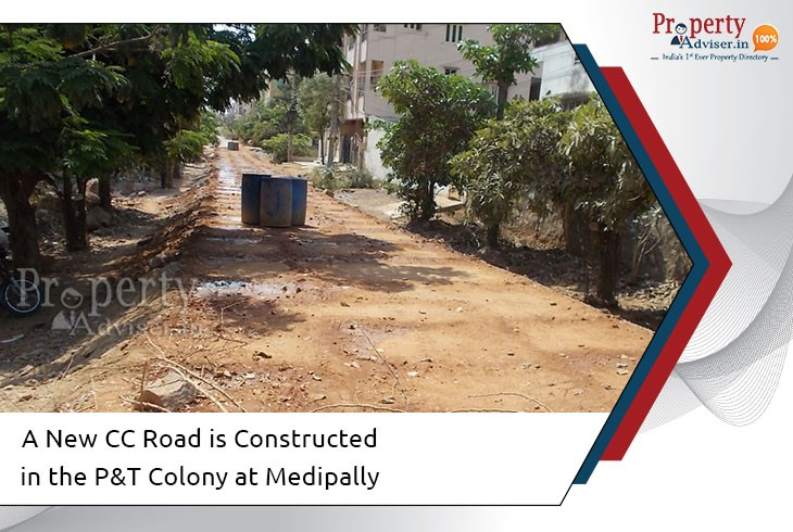 new-cc-road-work-is-completed-in-pt-colony-at-medipally