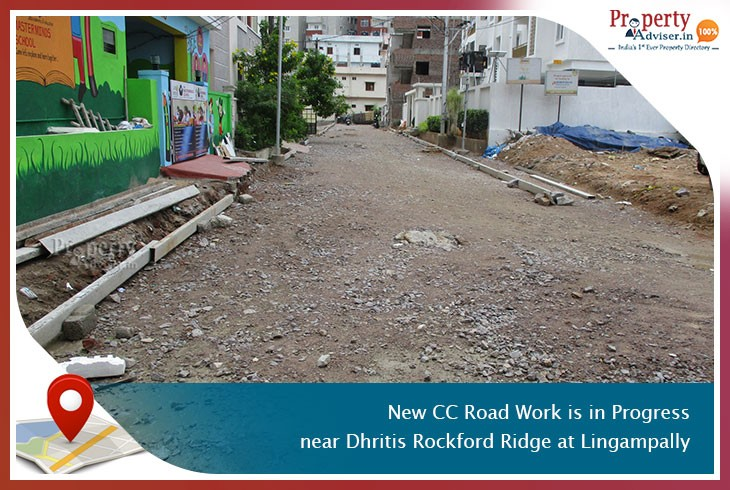 new-cc-road-work-is-in-progress-near-dhritis-rockford-ridge-at-lingampally