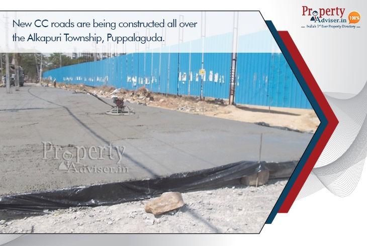 new-cc-roads-being-constructed-at-alkapuri-township-puppalaguda