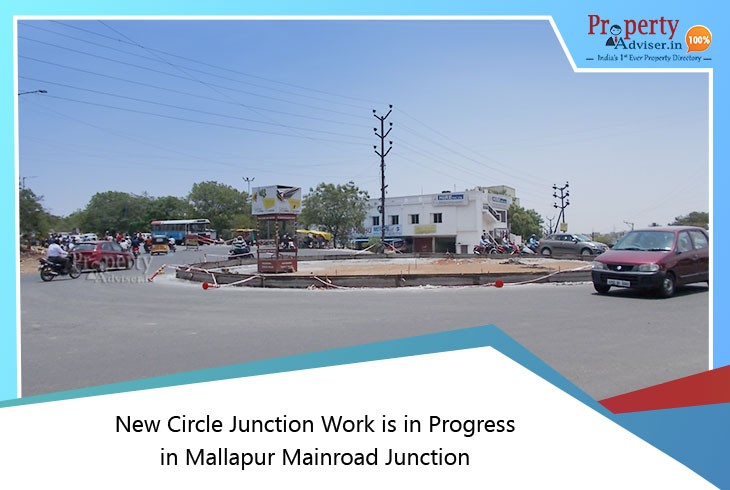 new-circle-junction-work-in-progress-in-mallapur-mainroad-junction