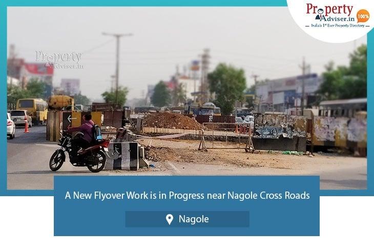 A New Flyover Work Is In Progress Near Nagole Cross Roads