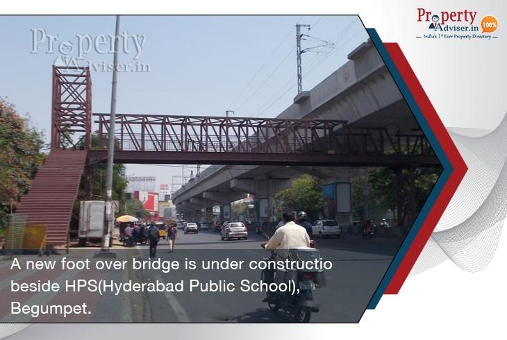 new-footover-bridge-under-construction-beside hyderabad-public-school-begumpet