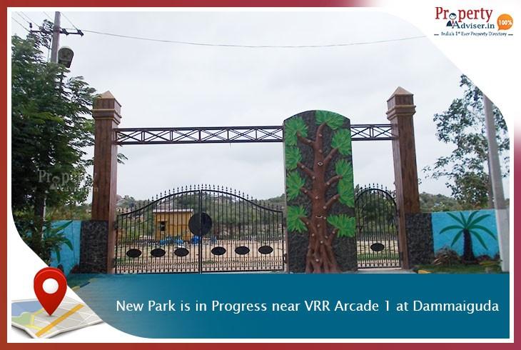 New Park Is in Progress near VRR Arcade 1 at Dammaiguda
