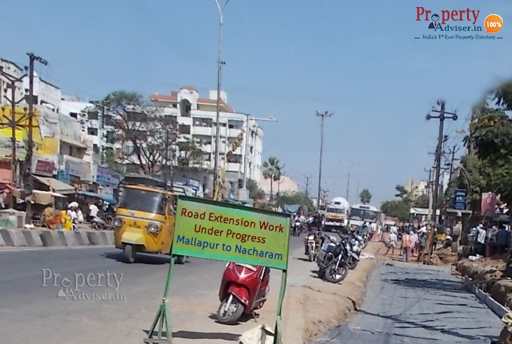 Road Extension Work from Mallapur Road to Nacharam