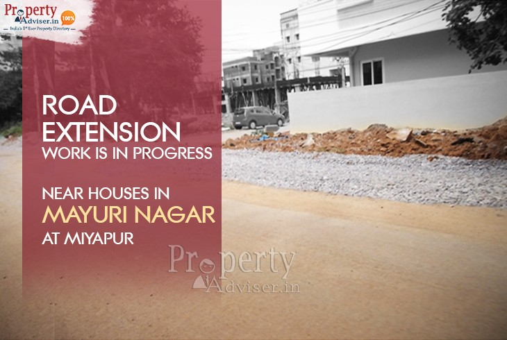 Road Extension Work at Mayuri Nagar in Miyapur