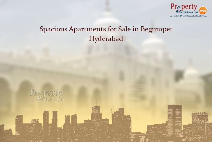 Spacious Apartments for sale in Begumpet