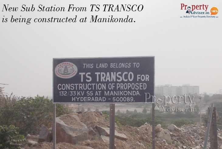 Sub Station Is Under Construction at Manikonda by TS TRANSCO