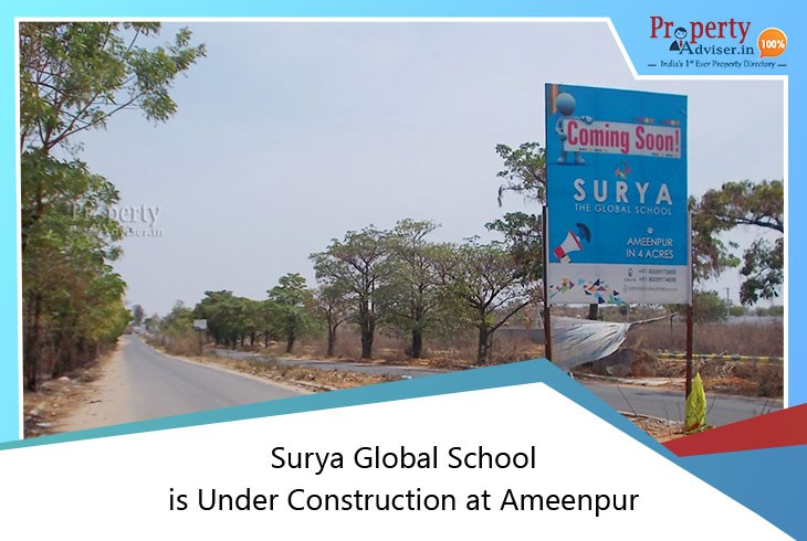 surya-global-school-is-under-construction-at-ameenpur