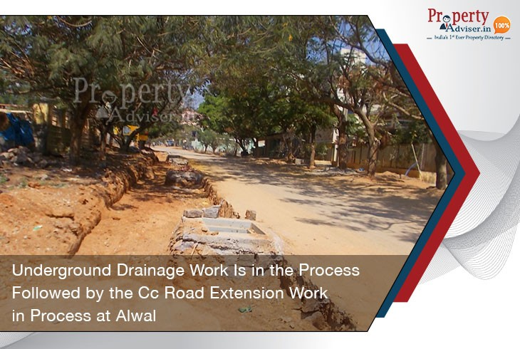 underground-drainage-work-process-followed-by-cc-road-extension-work