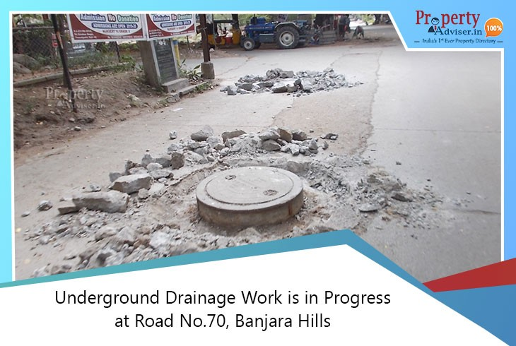 underground-drainage-work-in-progress-at-banjara-hills