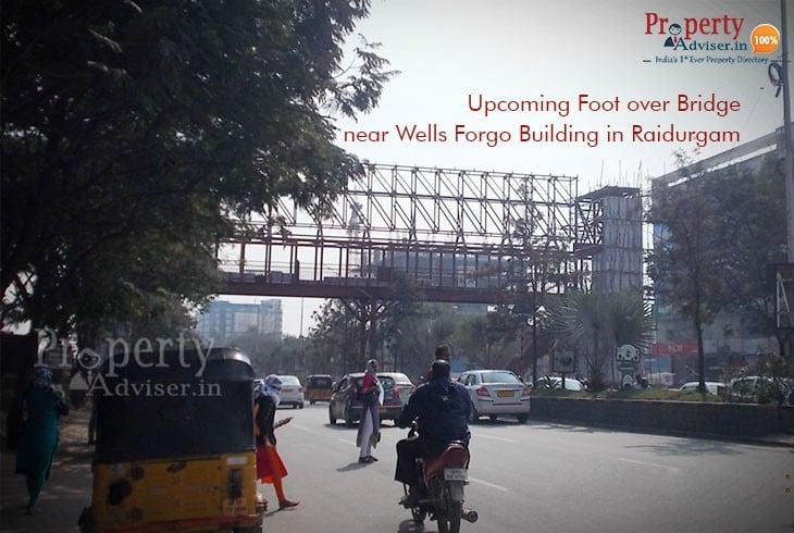 A New Foot Over Bridge Near Wells Fargo Building