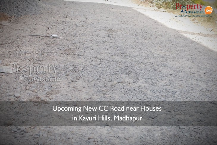 Upcoming New CC Road near Houses in Kavuri Hills, Madhapur