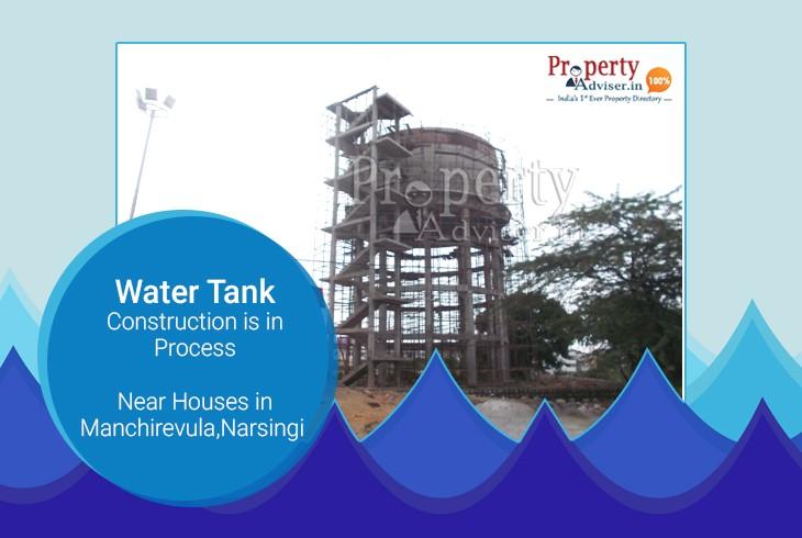 Over Head Water Tank Construction at Manchirevula, Narsingi