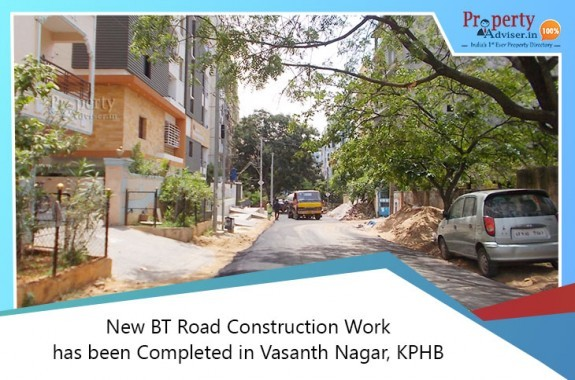 Laying Of BT Road Completed In Vasanth Nagar, KPHB