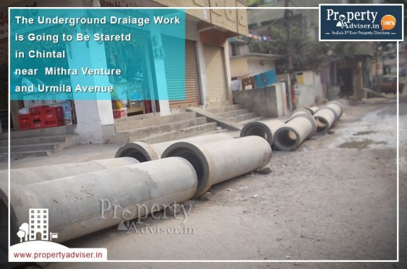 Underground Drainage Work Started Near Apartments in Chintal